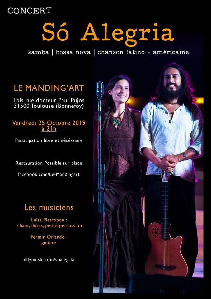 Concert Só Alegria au Manding'Art - Toulouse