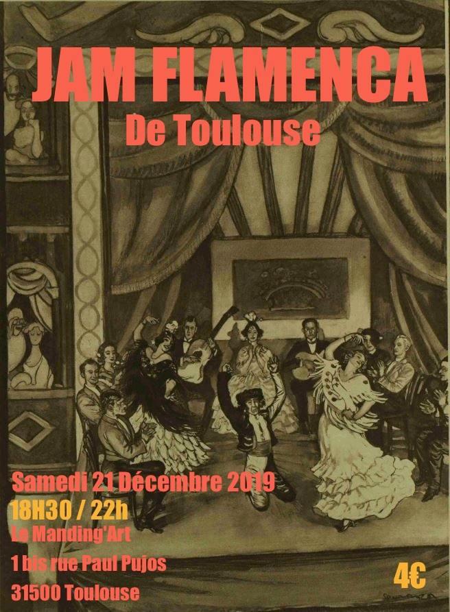 Jam Flamenca Toulousaine du 21 dcembre au Manding'art