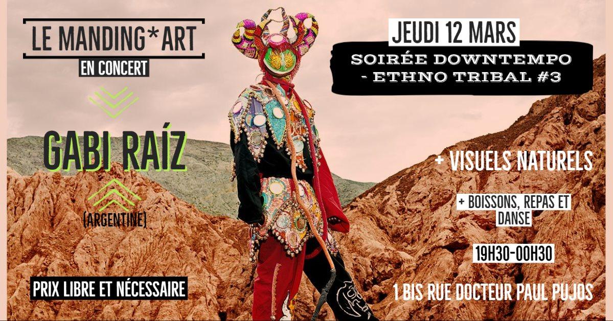 Soirée Downtempo #3 le 12 mars au Manding'art à Toulouse