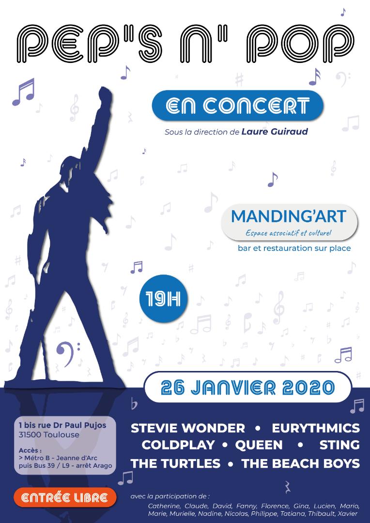 Pep's n Pop en concert dimanche 26 janvier au Manding'art Toulouse
