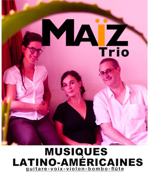 Concert Musique Latine Trio Maïz au Manding'art Toulouse le 10 novembre 2019